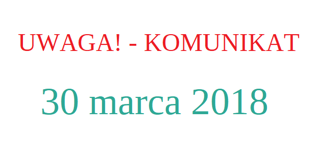 30 marca 2018